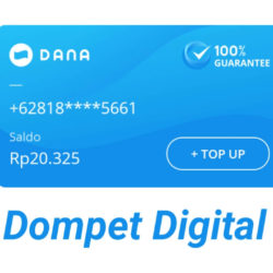 cara registrasi dompet digital dana